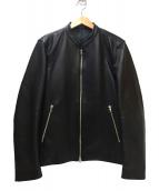 LIDnM(リドム)の古着「ラムレザージャケット」|ブラック