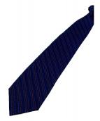BVLGARI(ブルガリ)の古着「総柄シルクネクタイ」|ネイビー×レッド