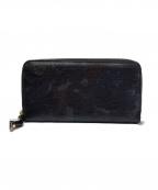 zanellato(ザネラート)の古着「ラウンドファスナー長財布」|カーキ×グレー