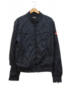 REPLAY(リプレイ)の古着「スリーブロゴワッペンブルゾン」 ブラック