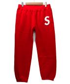Supreme(シュプリーム)の古着「ロゴスウェットパンツ」 レッド×ホワイト