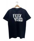GOD SELECTION XXX(ゴットセレクショントリプルエックス)の古着「プリントTシャツ」|ブラック×ホワイト