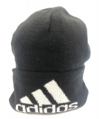 Gosha Rubchinskiy×adidas(ゴーシャ・ラブチンスキー×アディダス)の古着「コラボロゴ刺繍ニット帽」|ブラック×ホワイト