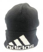 Gosha Rubchinskiy×adidas(ゴーシャラブチンスキー×アディダス)の古着「コラボロゴ刺繍ニット帽」|ブラック×ホワイト