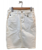 AG ADRIANO GOLDSCHMIED(エージー アドリアーノ ゴールドシュミット)の古着「デニムスカート」|ホワイト