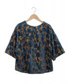 Lois CRAYON(ロイスクレヨン)の古着「ジャガードトップス」|ネイビー