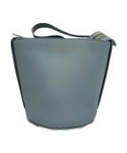 MaxMara(マックスマーラ)の古着「レザーハンドバッグ」|ブルー