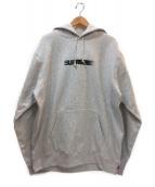 Supreme(シュプリーム)の古着「ロゴプリントプルオーバーパーカー」|グレー×ブラック