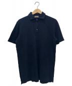 CRUCIANI(クルチアーニ)の古着「ウォッシュドコットン鹿の子ポロシャツ」 ネイビー