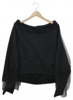 AULA(アウラ)の古着「チュールレイヤードトップス」|ブラック