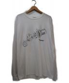 FLAGSTUFF(フラッグスタッフ)の古着「バックプリントカットソー」|ホワイト×ブラック