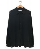ETHOSENS(エトセンス)の古着「ダブルガーゼシャツ」|ブラック