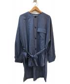 ETHOSENS(エトセンス)の古着「オーバーサイズシャツ」|ネイビー