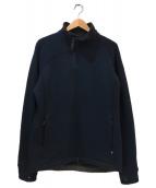 KLATTERMUSEN(クレッタルムーセン)の古着「スタンドカラーウールフリースジャケット」|ネイビー