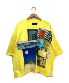 elephant TRIBAL fabrics(エレファントトライバルファブリックス)の古着「オーバーサイズプリントTシャツ」|イエロー×マルチカラー