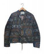 KOLOR(カラ)の古着「プリンテッドメモリーウェザージャケット」|カーキ×ブラック