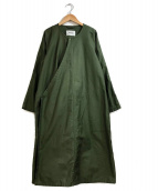 ZUCCA(ズッカ)の古着「コットンモールスキンオーバーコート」|カーキ