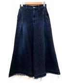 ZUCCA(ズッカ)の古着「カットオフデニムワイドパンツ」|インディゴ