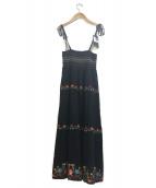 Hysteric Glamour(ヒステリックグラマ)の古着「刺繍ベアワンピース」|ブラック×マルチカラー