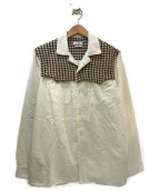 CMMN SWDN(コモン スウェーデン)の古着「オープンカラー切替シャツ」|ホワイト
