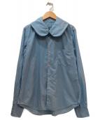 COMME des GARCONS COMME des GARCONS(コムデギャルソンコムデギャルソン)の古着「丸襟ブラウス」|ブルー