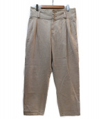 LIMI feu(リミフゥ)の古着「タックパンツ」|ベージュ