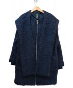 Marc by Marc Jacobs(マーク・バイ・マーク・ジェイコブズ)の古着「アルパカモヘヤ混フーデッドコート」|ネイビー