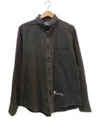 GANGSTERVILLE(ギャングスタビル)の古着「コットンチェックシャツ」|ブラウン×アイボリー