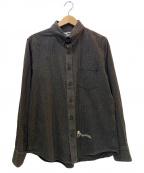 GANGSTERVILLE(ギャングスタービル)の古着「コットンチェックシャツ」|ブラウン×アイボリー