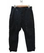 uniform experiment(ユニフォームエクスペリメント)の古着「フライトカーゴパンツ」|ブラック