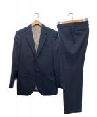 Paul Smith London(ポールスミスロンドン)の古着「裏地プリントストライプセットアップスーツ」|ネイビー