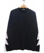 NEIL BARRETT(ニールバレット)の古着「ボルトTシャツ」|ブラック×ホワイト
