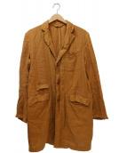 nestrobe confect(ネストローブ コンフェクト)の古着「リネンチェスターコート」|ブラウン