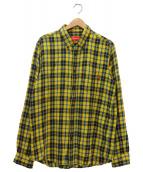 Supreme(シュプリーム)の古着「チェックネルシャツ」|イエロー×ブルー