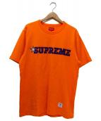 SUPREME(シュプリーム)の古着「ロゴ刺繍Tシャツ」 オレンジ×パープル
