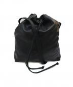 hobo(ホーボー)の古着「レザー巾着ショルダーバッグ」|ブラック