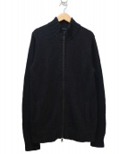 JOSEPH HOMME(ジョセフオム)の古着「スタンドカラーニットジャケット」|ブラック