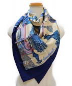 HERMES(エルメス)の古着「大判スカーフ」|ネイビー