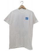 VERDY×EYESCREAM(ヴェルディ×アイスクリーム)の古着「コラボプリントTシャツ」|ホワイト×ブルー