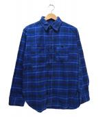 Engineered Garments(エンジニアードガーメン)の古着「山ポケチェックネルシャツ」|ネイビー×ブルー