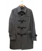 BURBERRY BLACK LABEL(バーバリーブラックレーベル)の古着「ラムウールロングトグルコート」|グレー