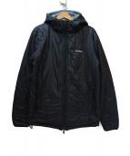 WILD THINGS(ワイルドシングス)の古着「フーデッドキルティングジャケット」|ブラック×グレー