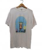 LOEWE()の古着「プリントTシャツ」 ホワイト×ブルー