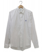 KENZO(ケンゾー)の古着「ワンポイント刺繍シャツ」 ホワイト×ネイビー