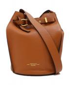 TOPKAPI(トプカピ)の古着「シュリングレザーバケツ型ショルダーバッグ」 ブラウン