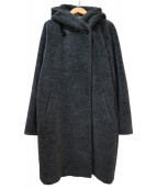 MAX MARA STUDIO(マックスマーラ ストゥディオ)の古着「アルパカ混フーデッドコート」|グレー