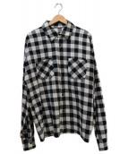 Danke schon(ダンケシェーン)の古着「チェックシャツ」|ホワイト×ブラック