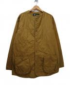 FAT(エフエーティー)の古着「ノーカラージャケット」 ブラウン