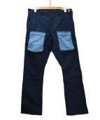 BROWN by 2-tacs(ブラウン バイ ツータックス)の古着「テーパードパンツ」|ネイビー