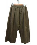 mizuiro-ind(ミズイロインド)の古着「コーデュロイバルーンパンツ」|ブラウン